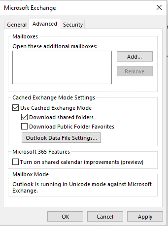 Account Settings Advanced Page